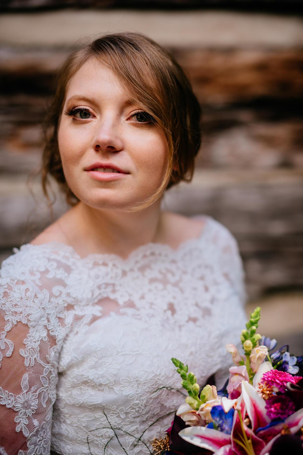 rustic bridal portrait craik patton house wedding charleston wv