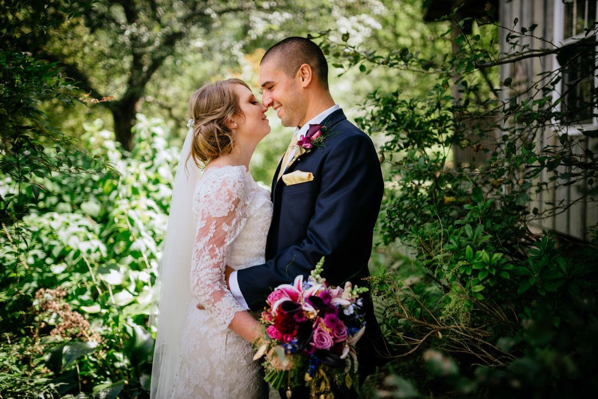 bride groom portrait jq dickinson saltworks wedding charleston west virginia