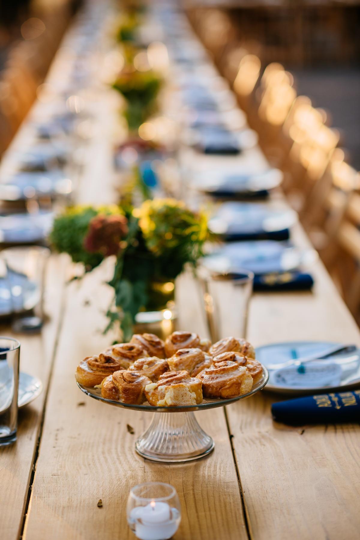 south hills market cinnamon rolls jq dickinson saltworks wedding reception brunch