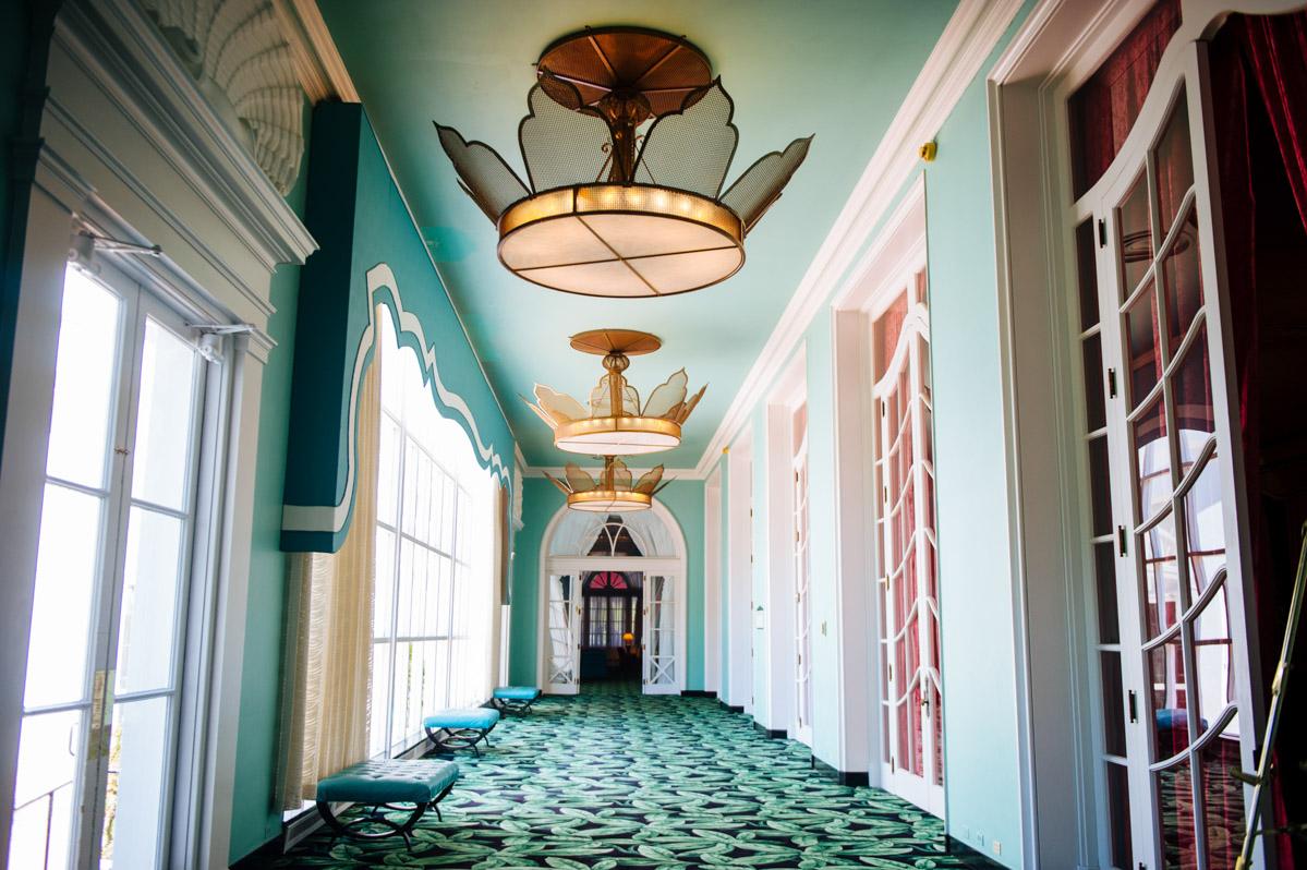 dorothy draper design hallway greenbrier resort wv