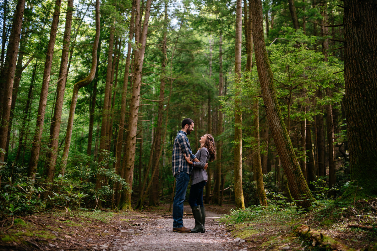 endless wall trail fayetteville wv engagement photos