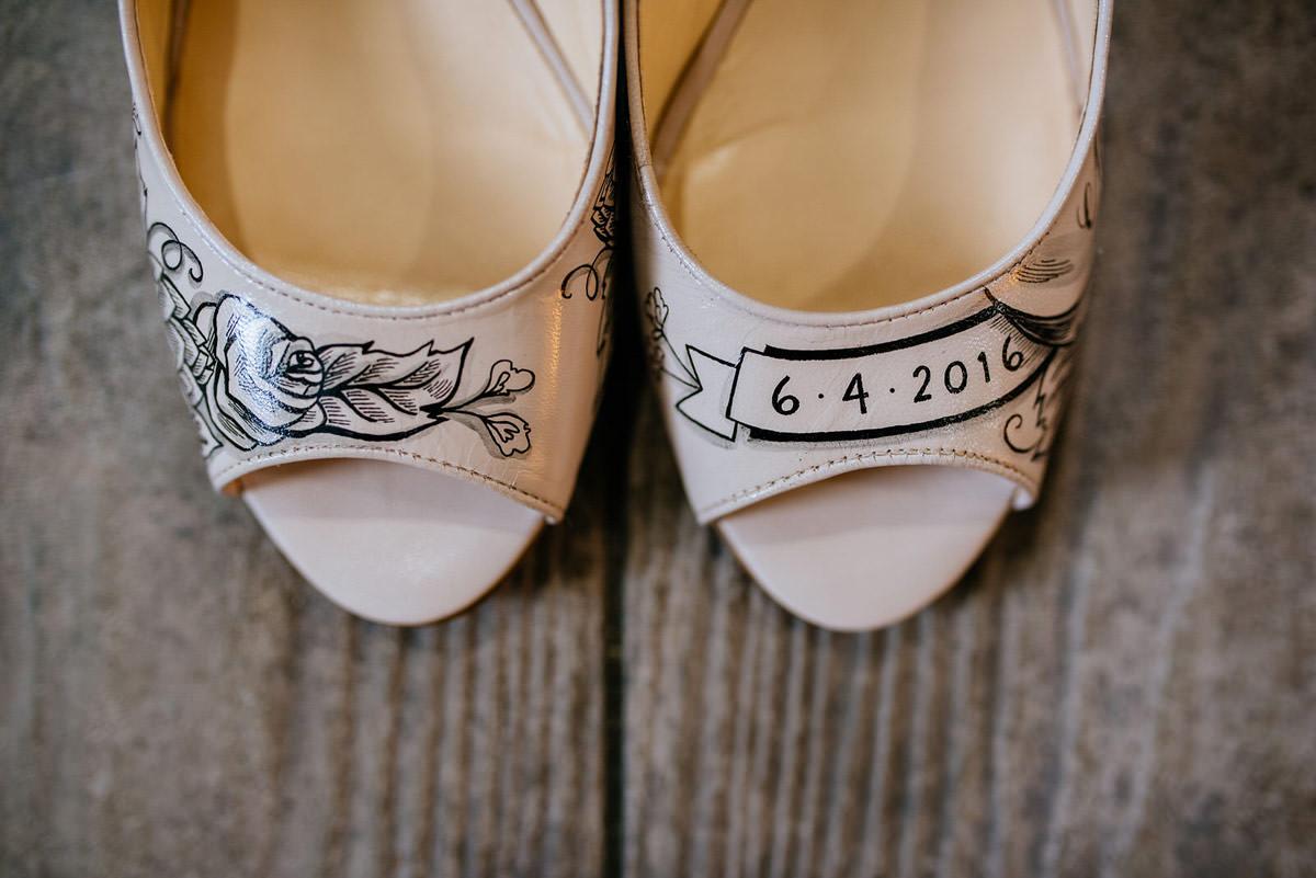 figgie shoes custom handpainted bridal shoes