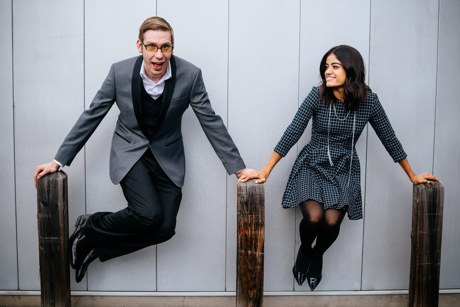 fun engagement photos in charleston wv