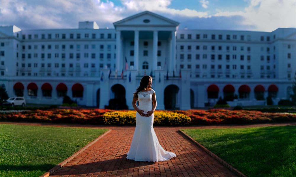 greenbrier resort wedding bridal portraits