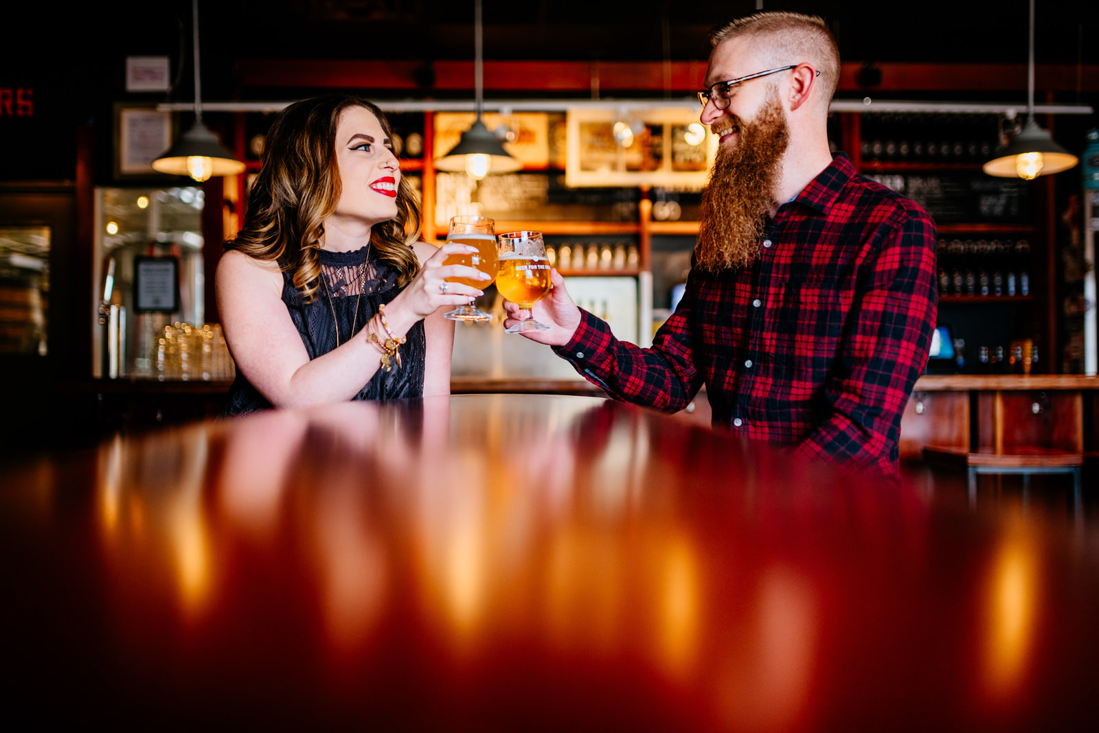 right proper dc brewery engagement session