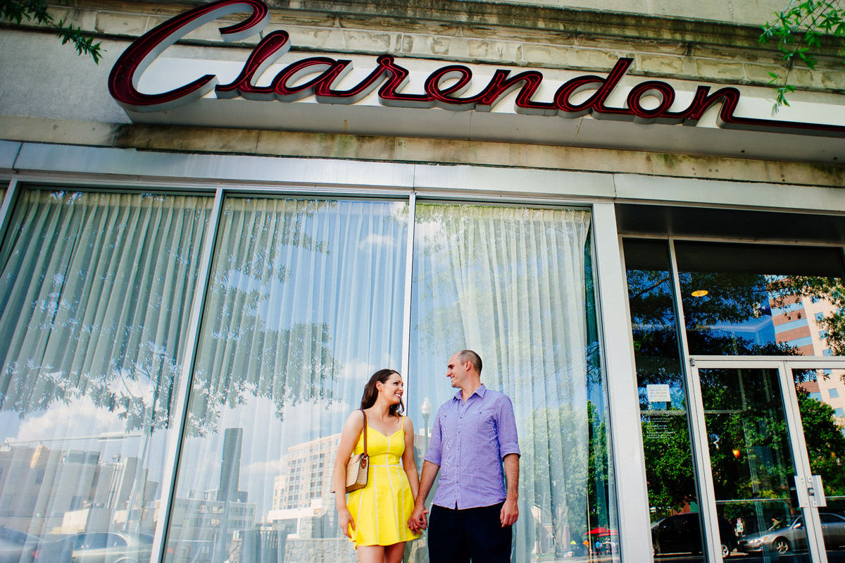 washington dc clarendon ballroom engagement photos
