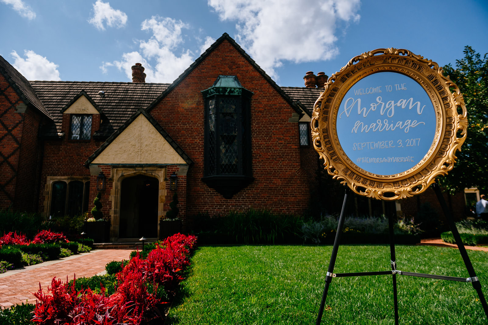 wedding welcome sign zenner house athens ohio