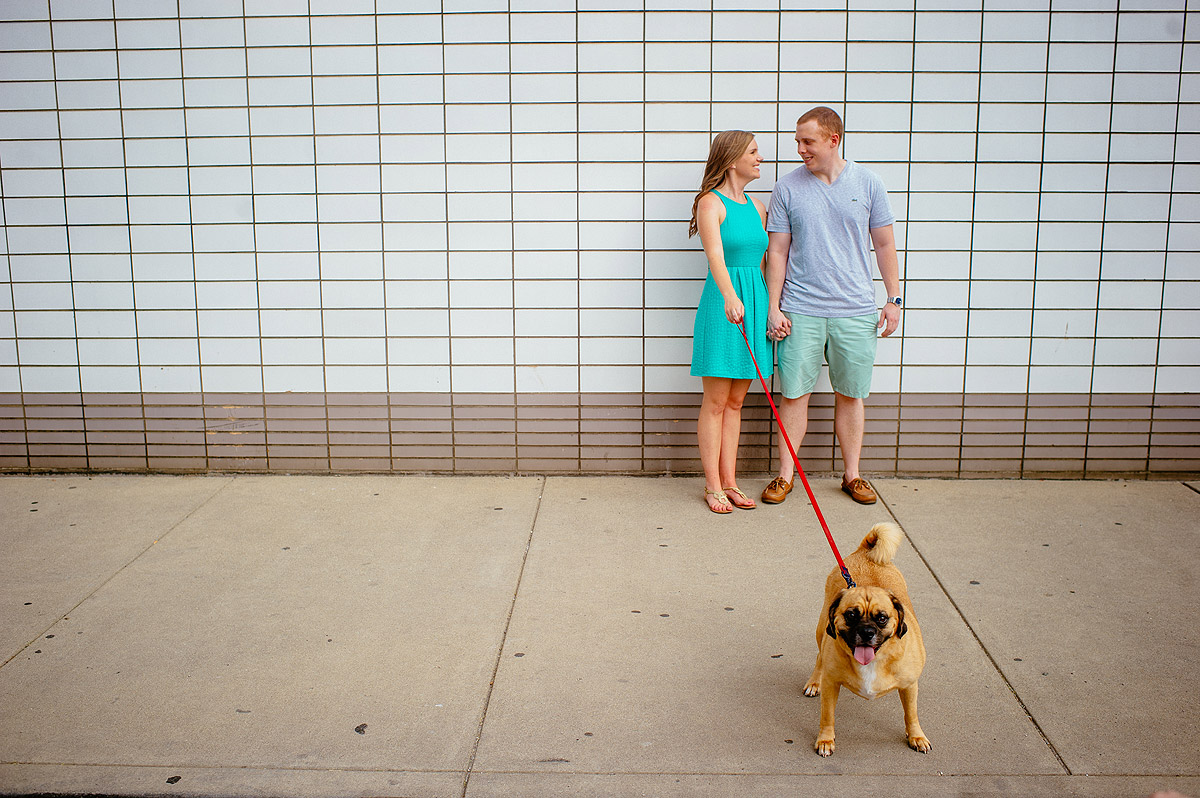 wv engagement photos with dogs