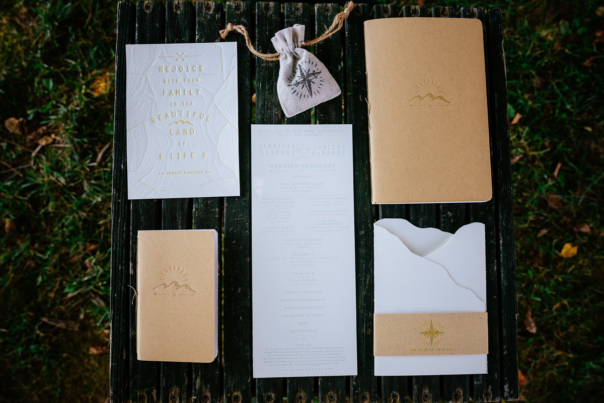 basecamp printing wedding stationery west virginia letterpress