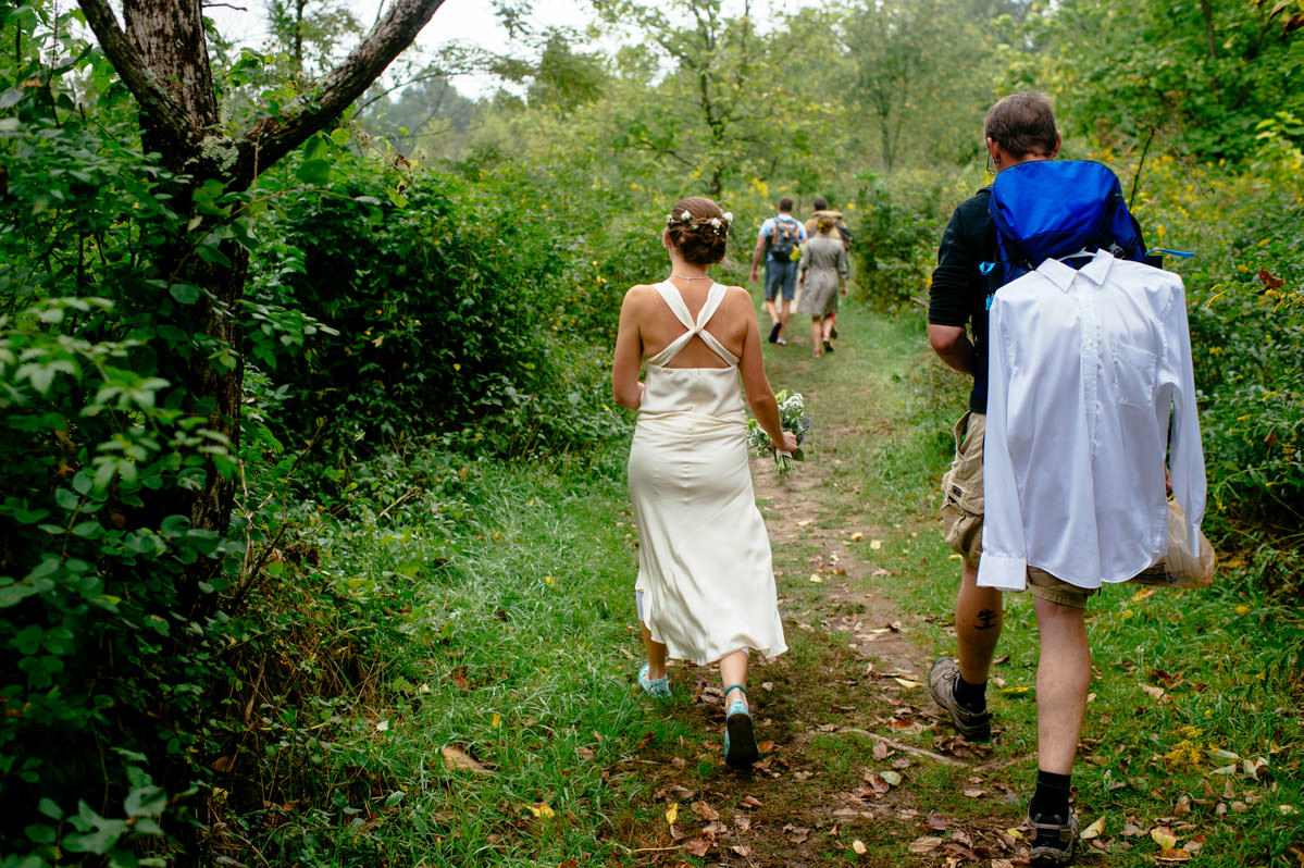 bride groom hiking long point best fayetteville wv elopement photographers