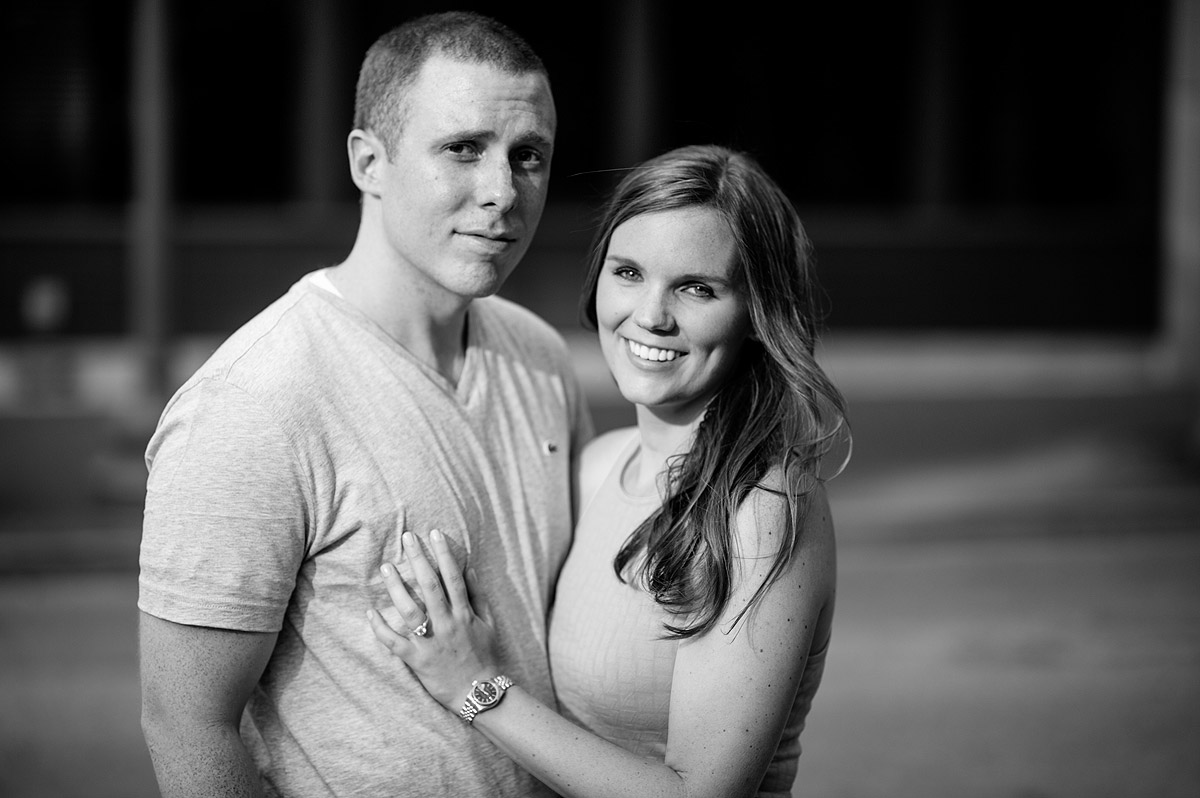 charleston wv black and white engagement portraits