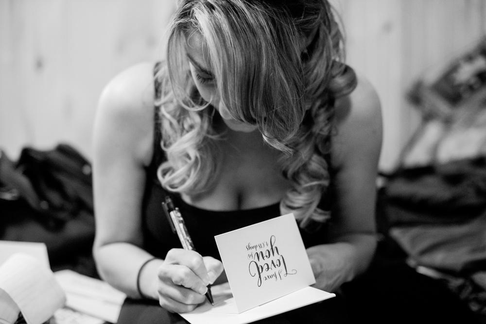 elopement card writing
