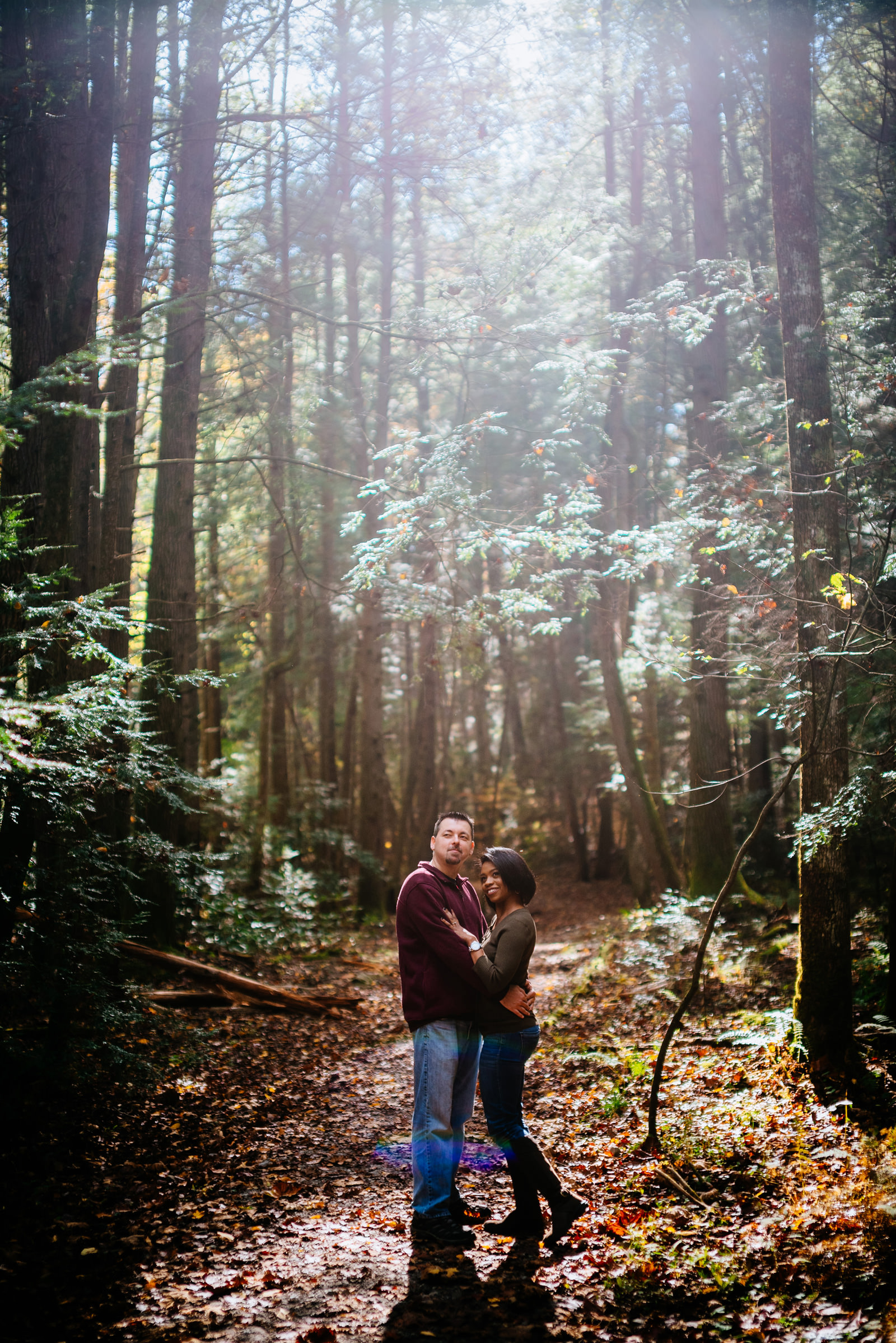 hiking engagement photos endless wall trail fayetteville wv