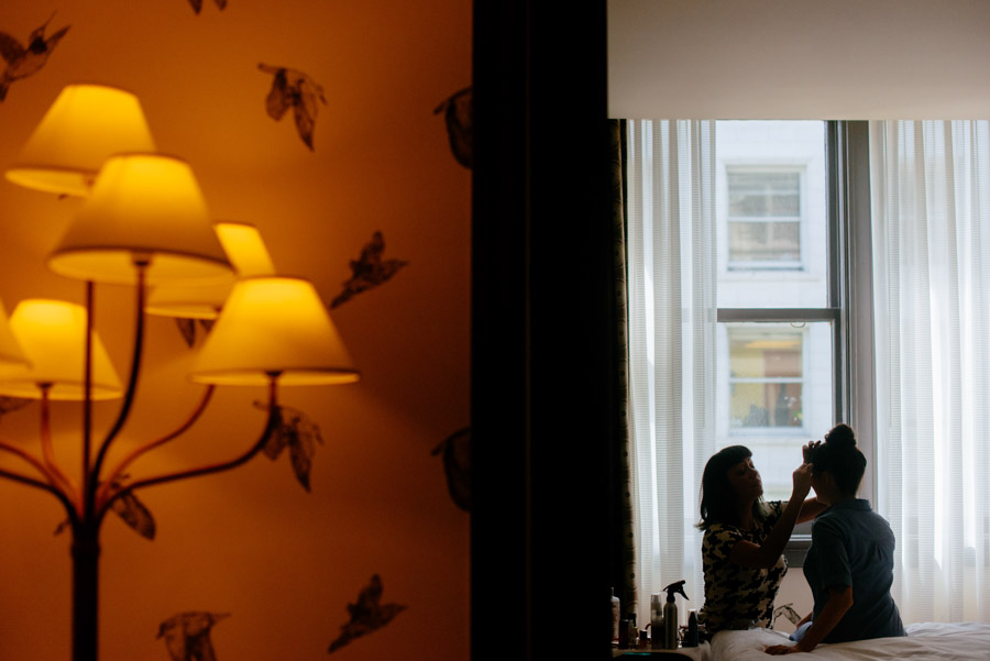 hotel monaco bride getting ready
