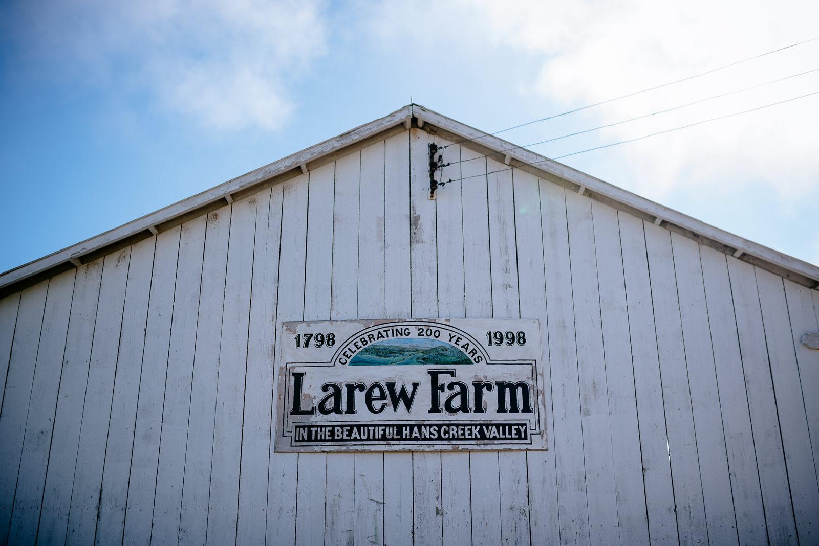 larew farm barn greenville wv