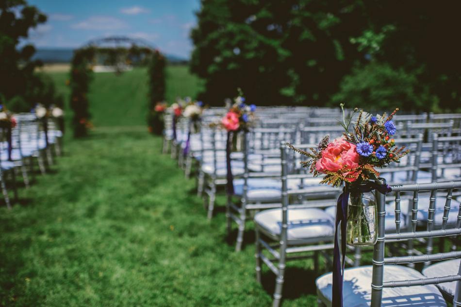 lewisburg swift level farm wedding ceremony detail