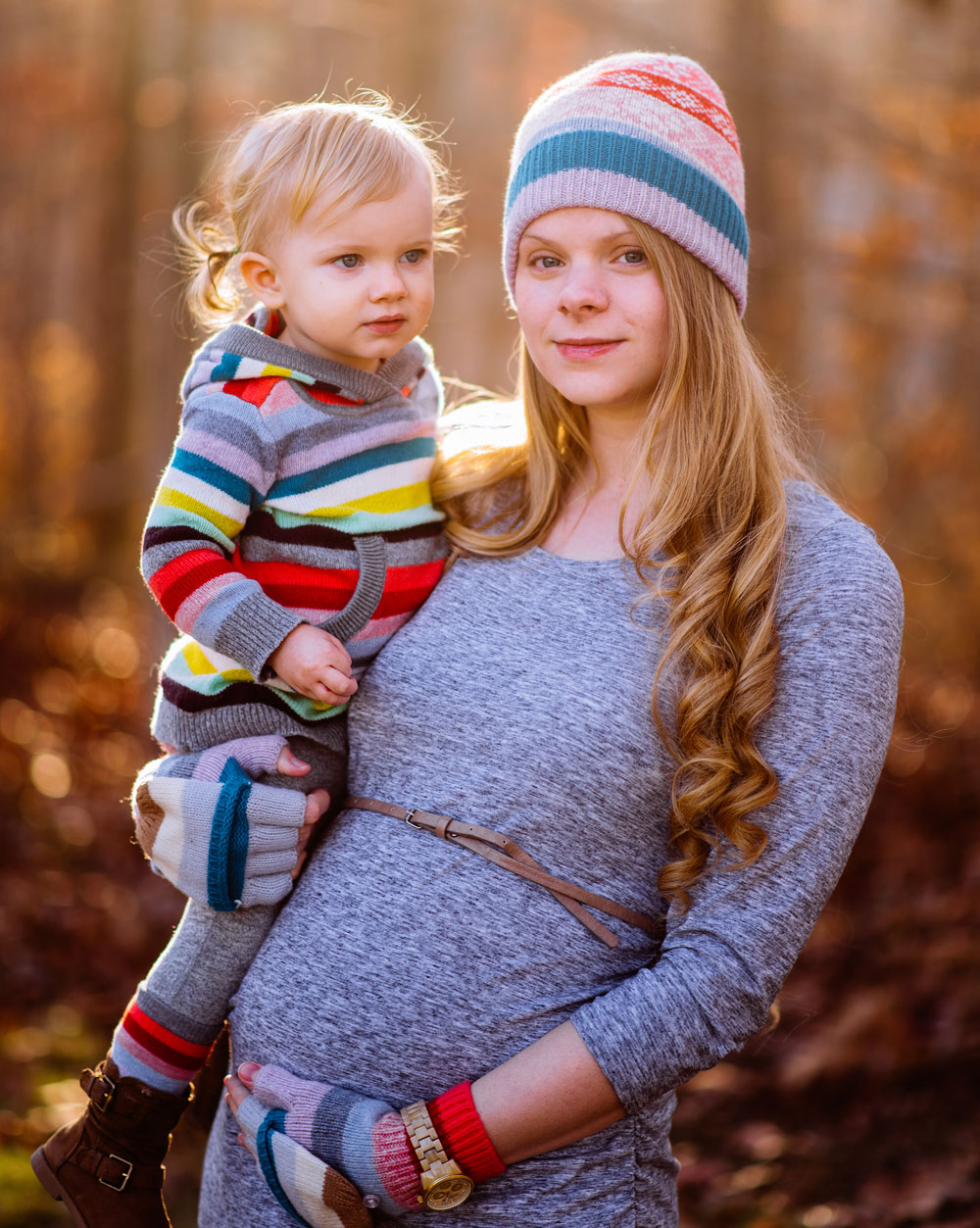 mother and daughter fall portraits in west virginia