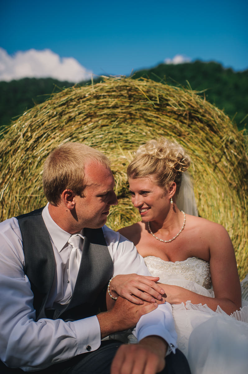 outdoor westvirginia field wedding