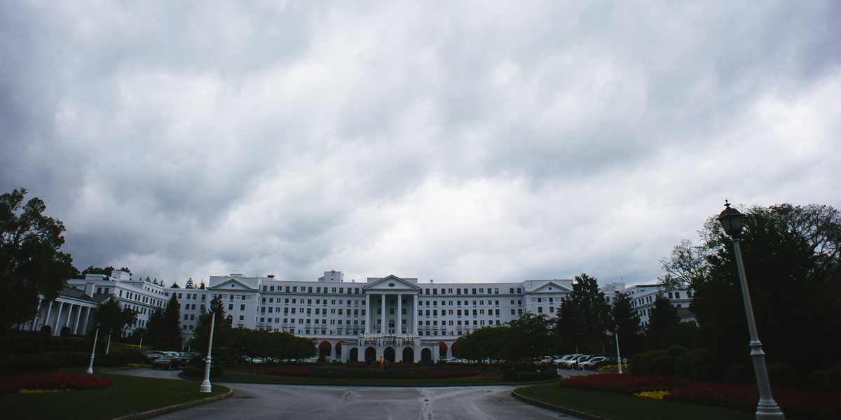 overcast day at the greenbrier resort white sulphur springs west virginia