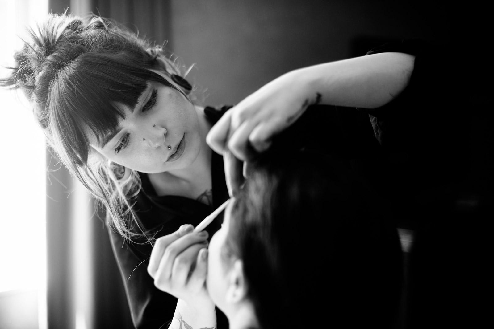 sara myers wedding makeup artist