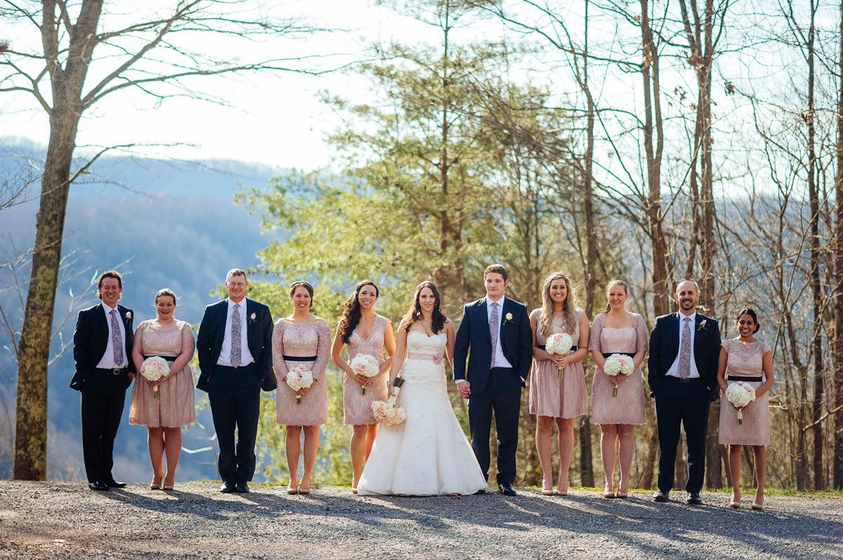 best wedding party photos fayetteville west virginia wedding photographers