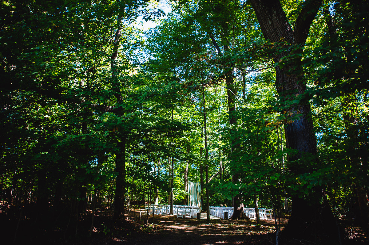 ceremony in the woods