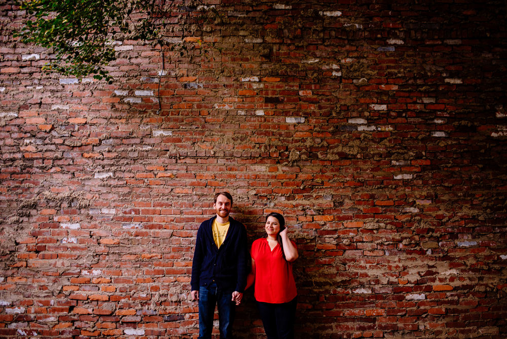 downtown charleston west virginia engagement session