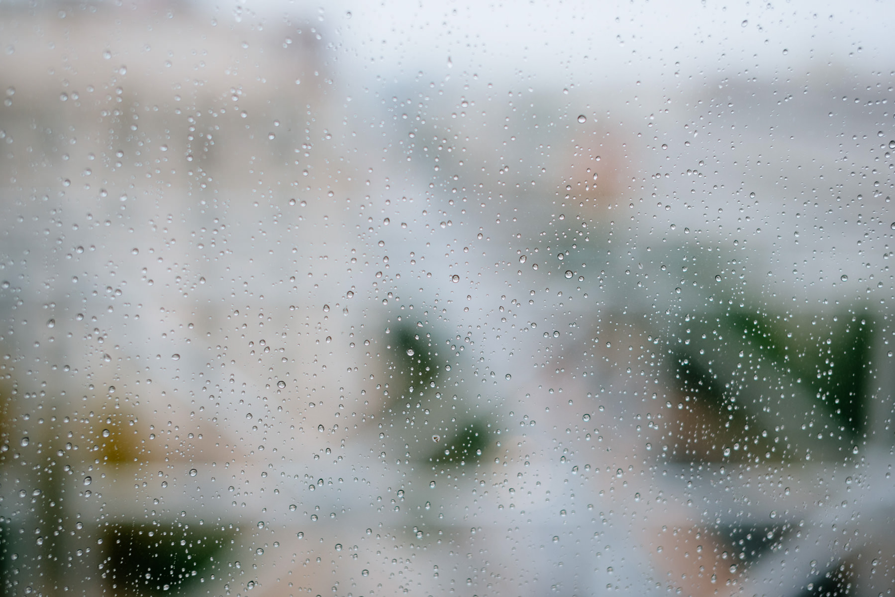 rain on a window pane