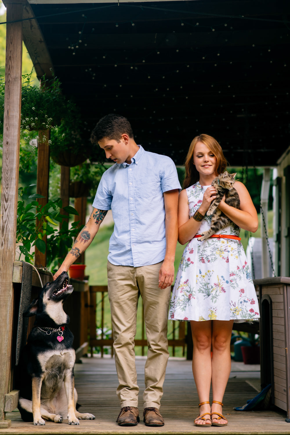 engagement photos with pets by wv wedding photographers the oberports