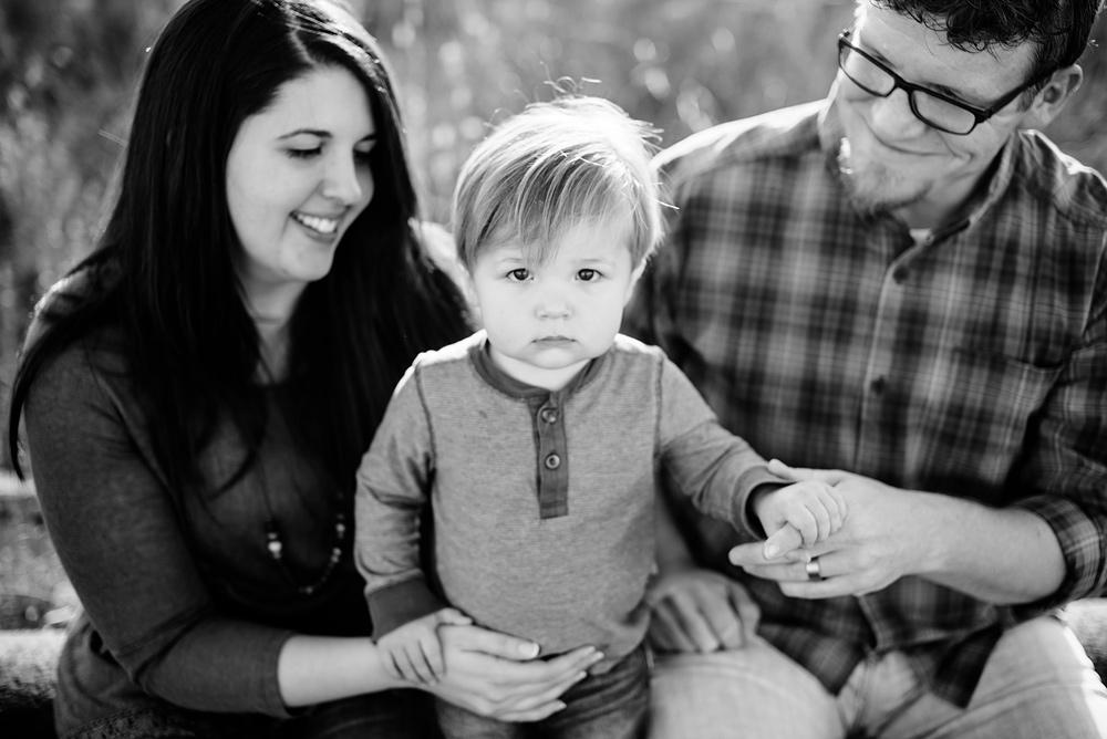 family of three photos