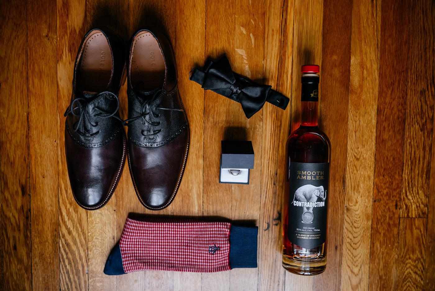 groom details bowtie smooth ambler whiskey