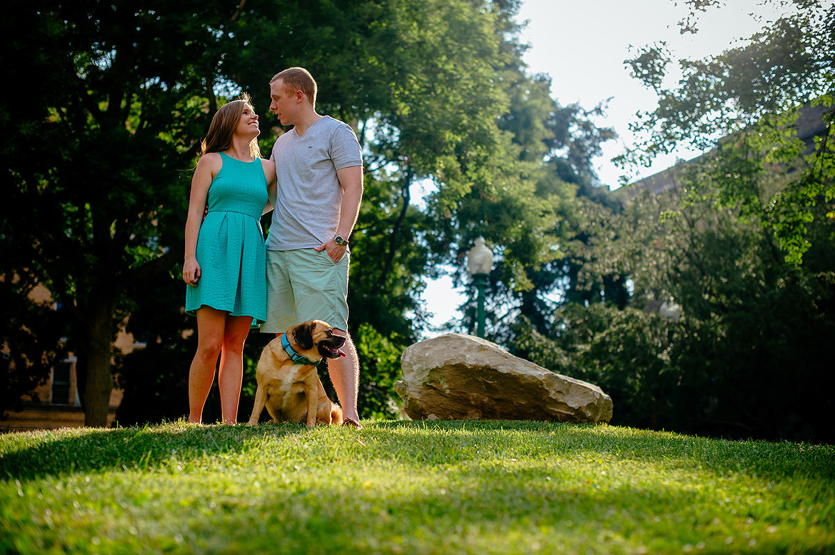 outdoor pet engagement session
