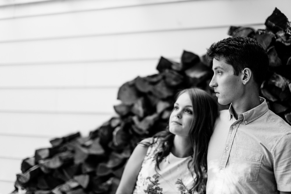 black and white wv engagement pictures