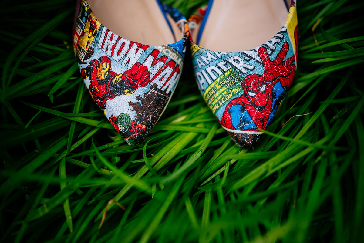 custom comic book bridal shoes by siegda etsy