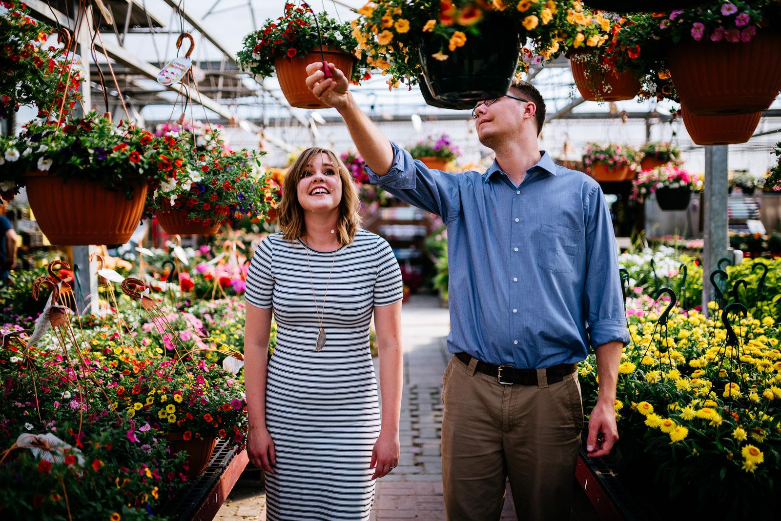 greenhouse engagement session wv wedding photographers