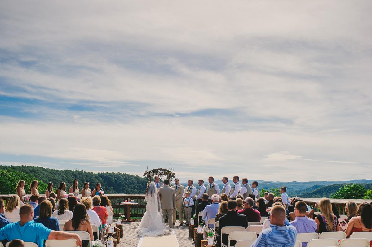 pipestem wedding westvirginia ceremony deck