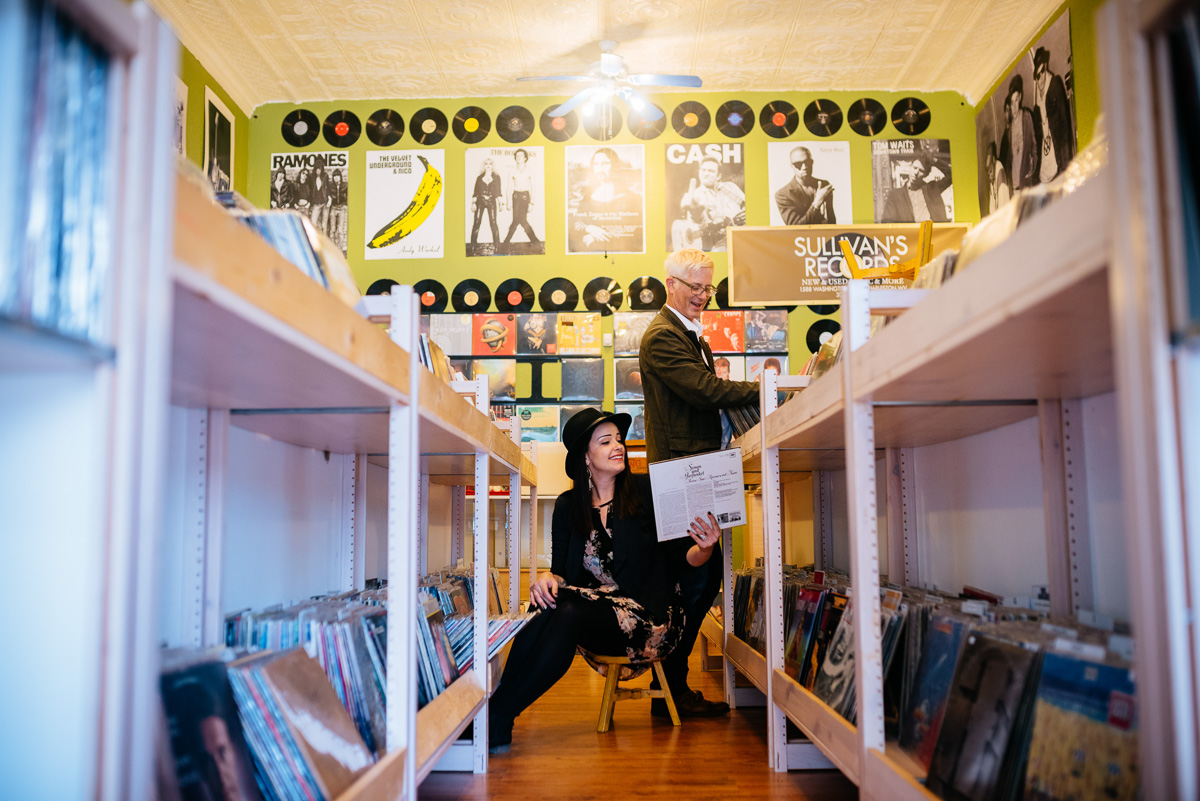 record store engagement photos wv