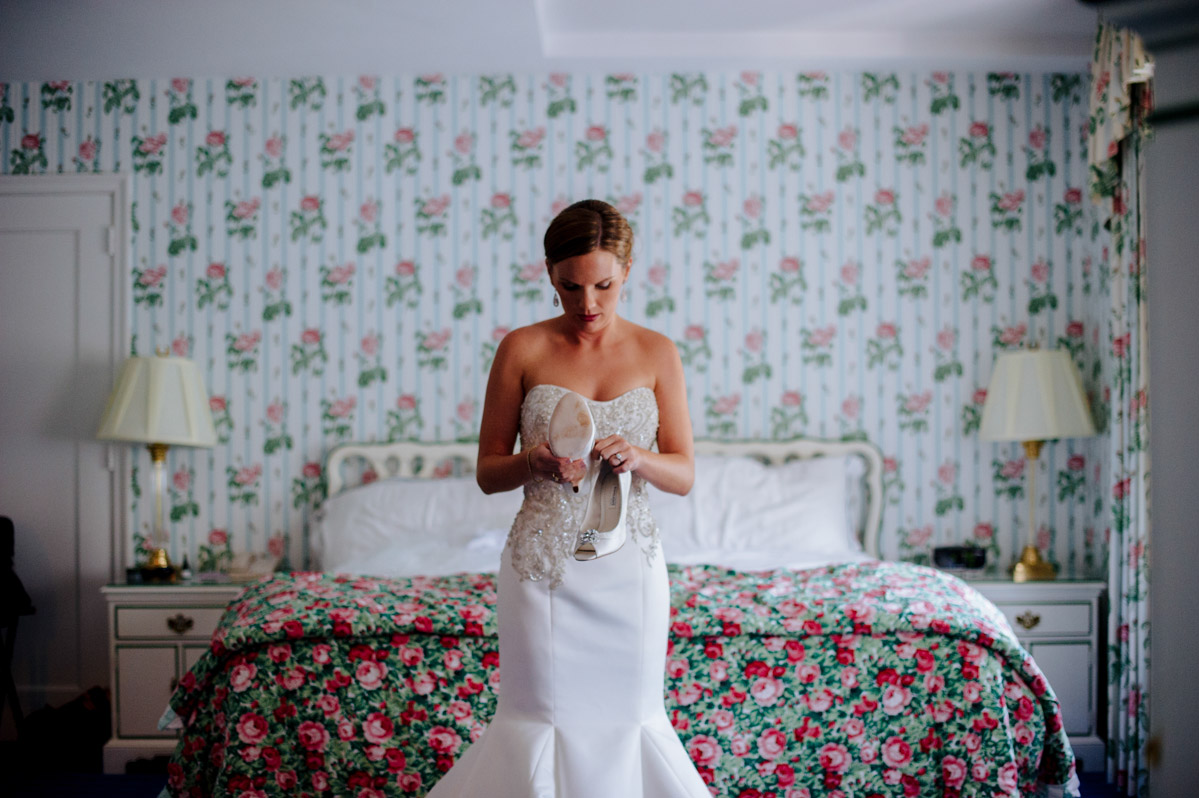 sophisticated bride getting ready greenbrier resort photojournalism candid wedding photography by wv photographers the oberports