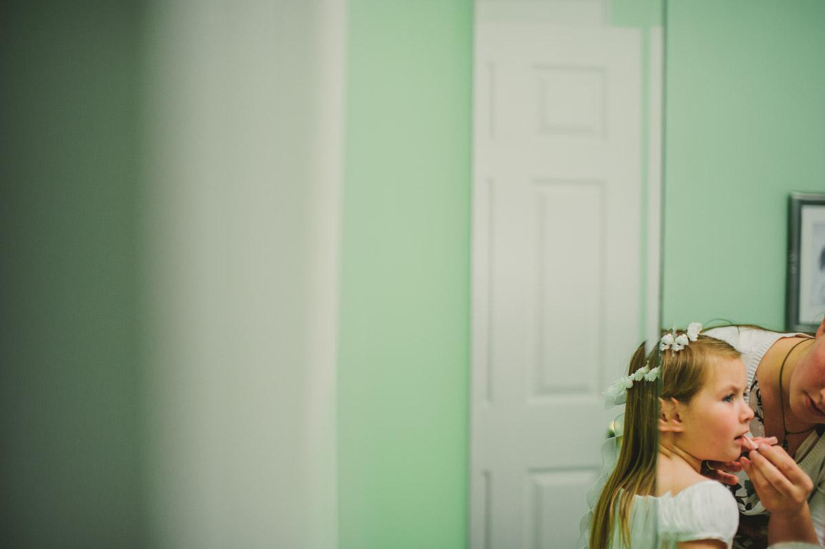 summertime west virginia wedding flower girl