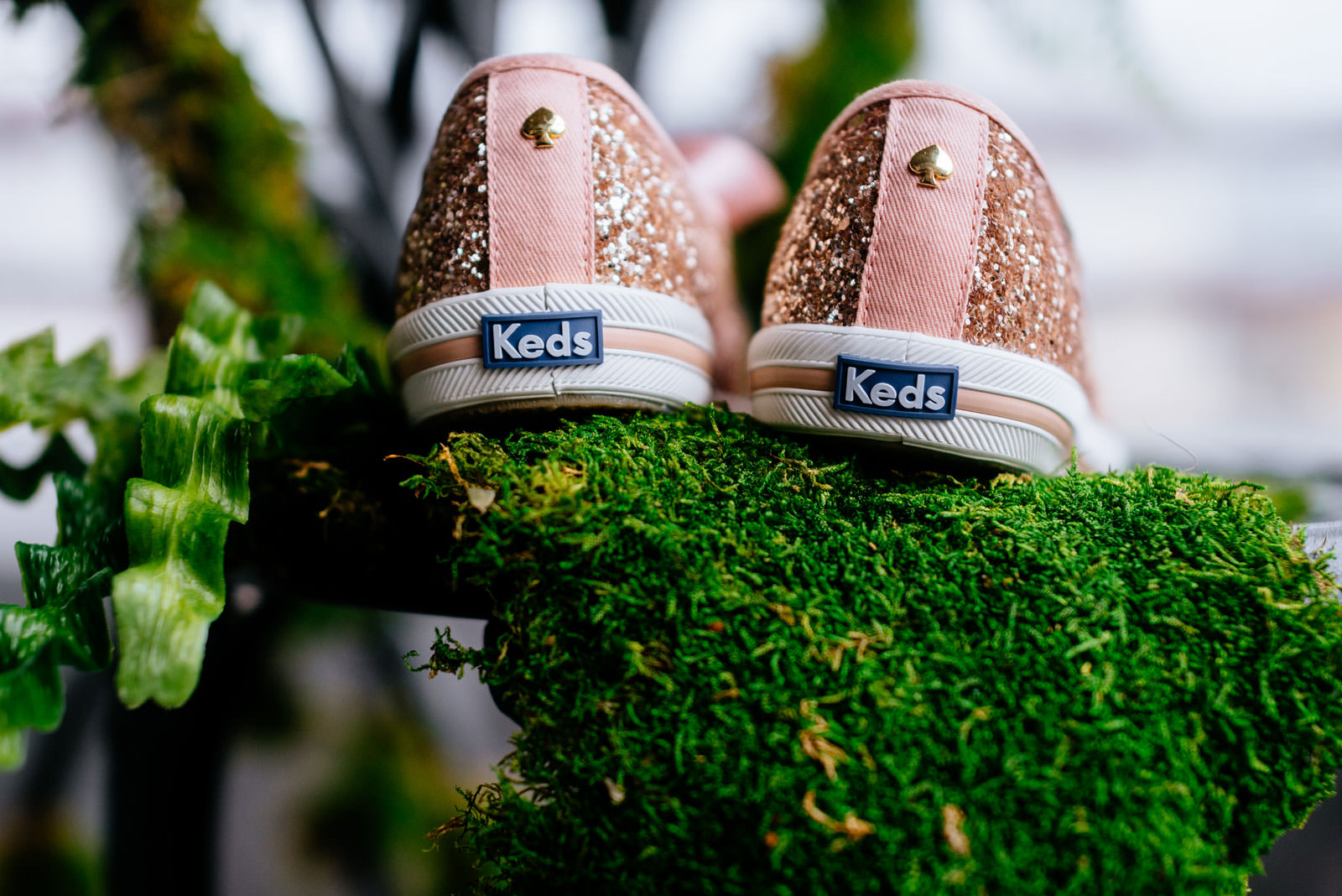 wedding details kate spade glitter keds sneakers