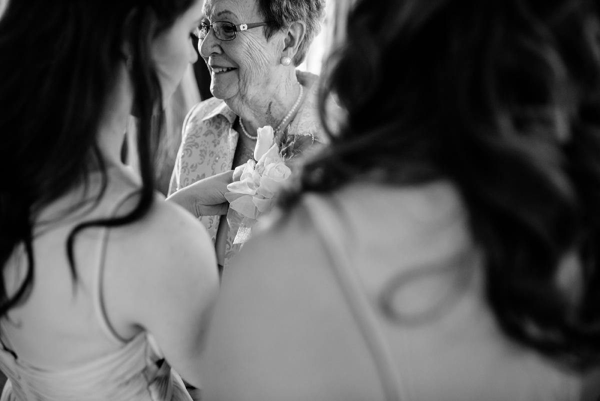 wv winter wedding grandma gets a corsage