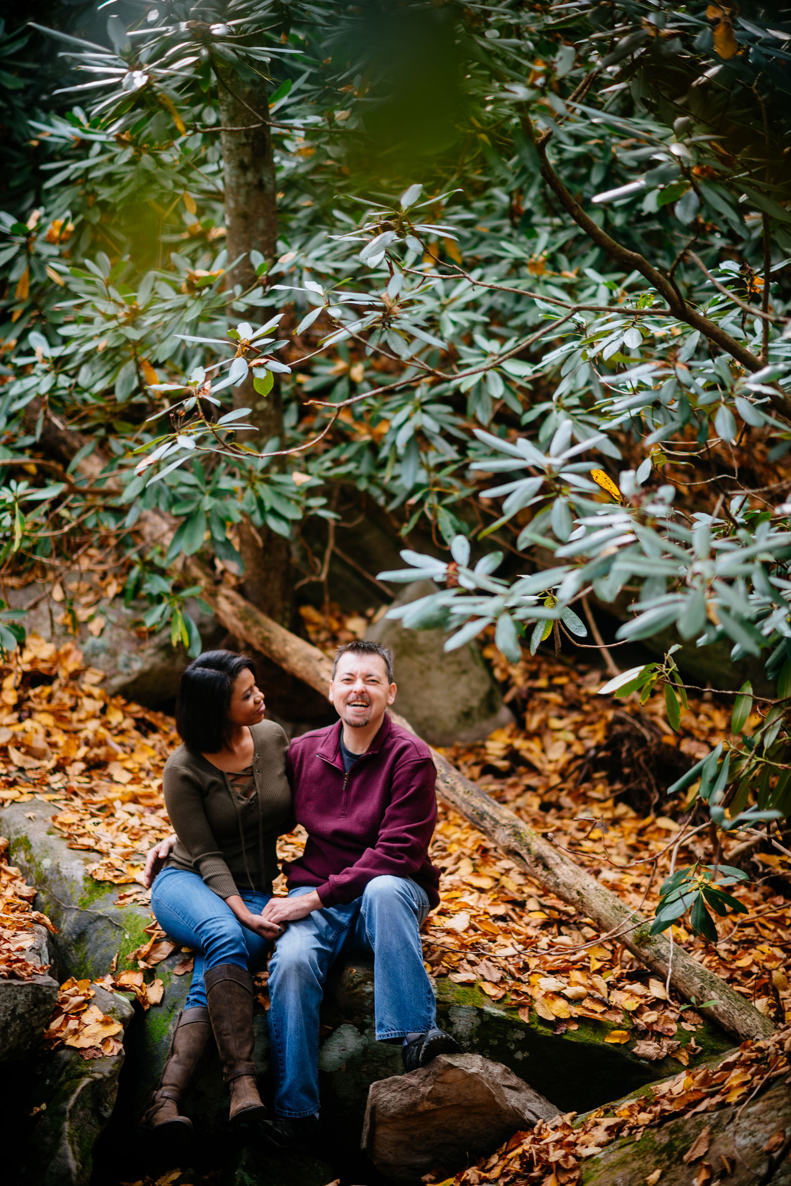 autumn engagement session in wv