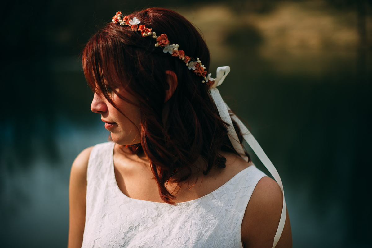 bohemian bridal portrait wheeling west virginia wedding photos