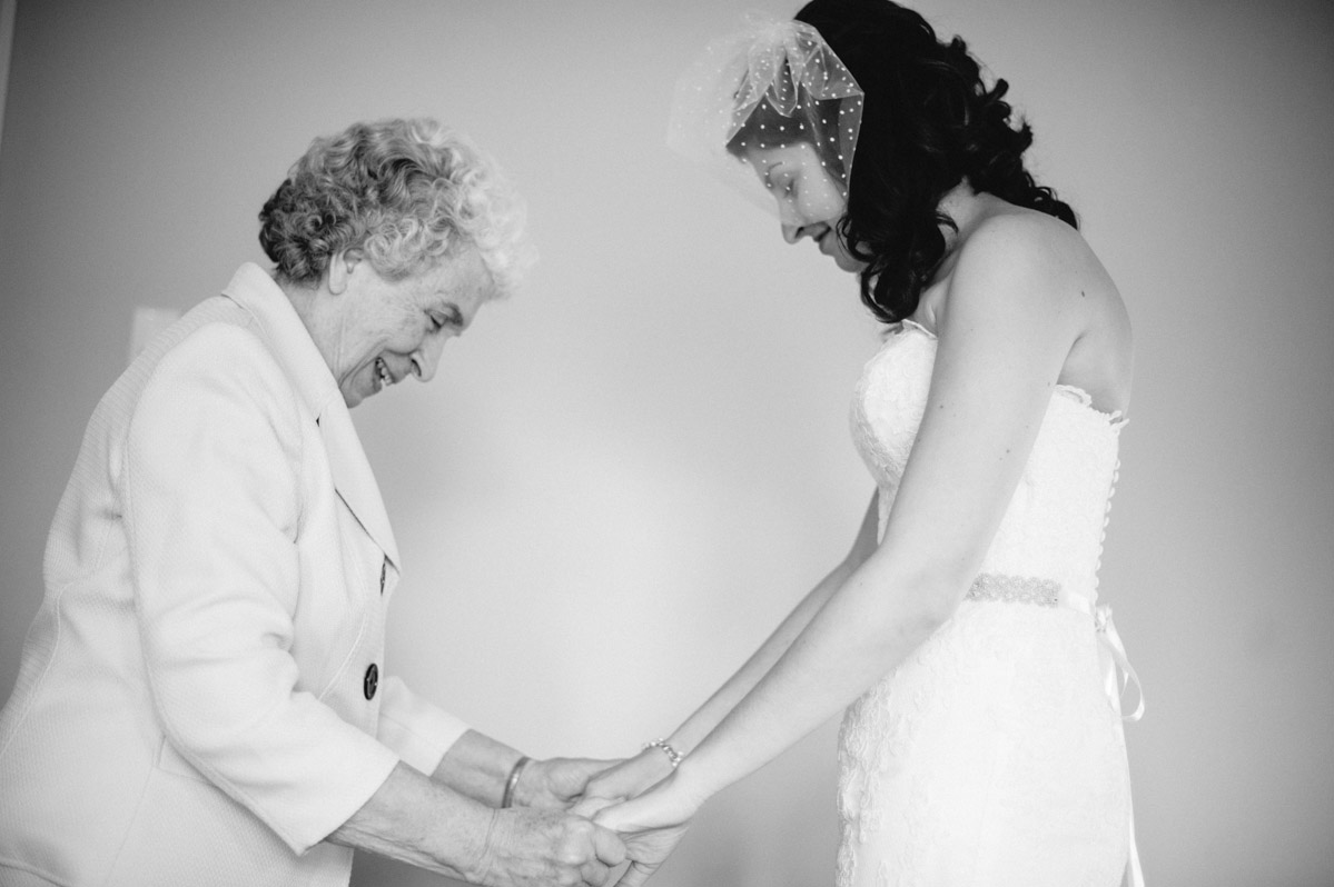 bride with her grandmother