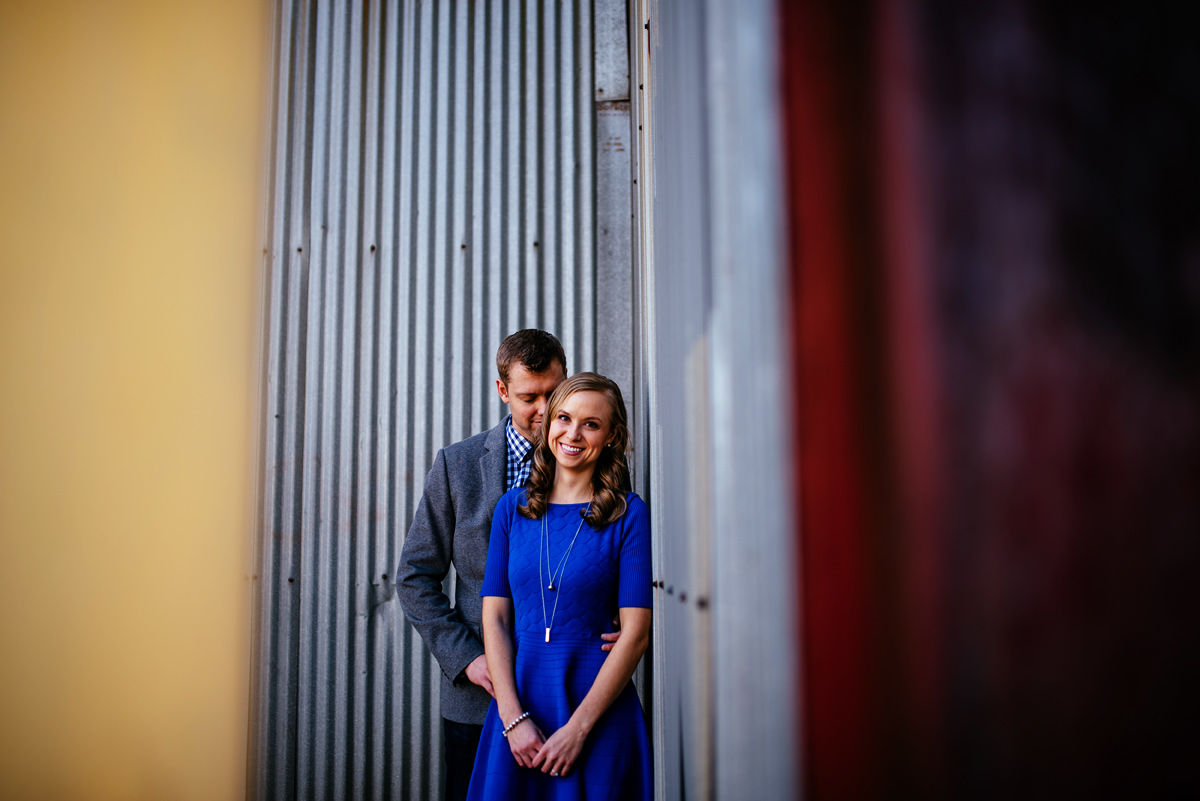 charleston wv engagement with dog warehouse district