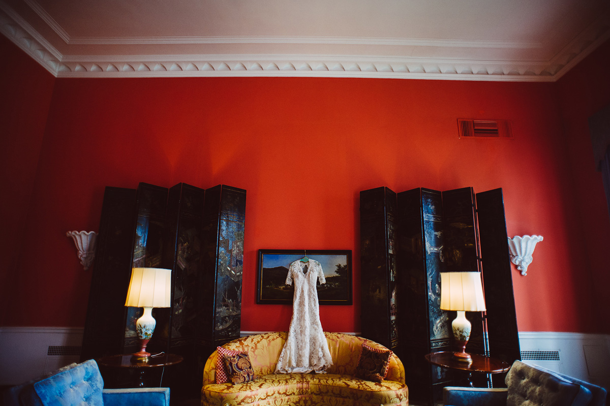greenbrier wedding dress photo in the grace kelly room at the greenbrier