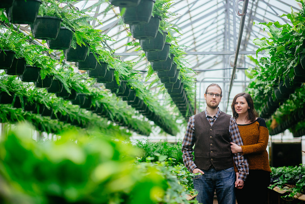 greenhouse engagement photos charleston wv