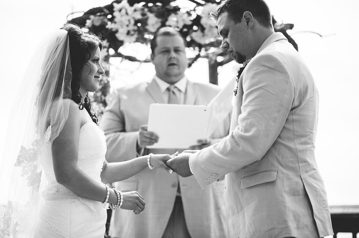 pipestem deck wedding westvirginia ceremony