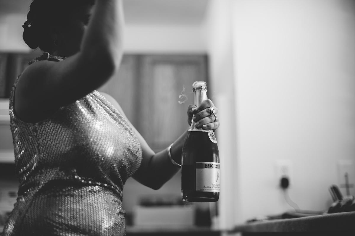 pre wedding champagne
