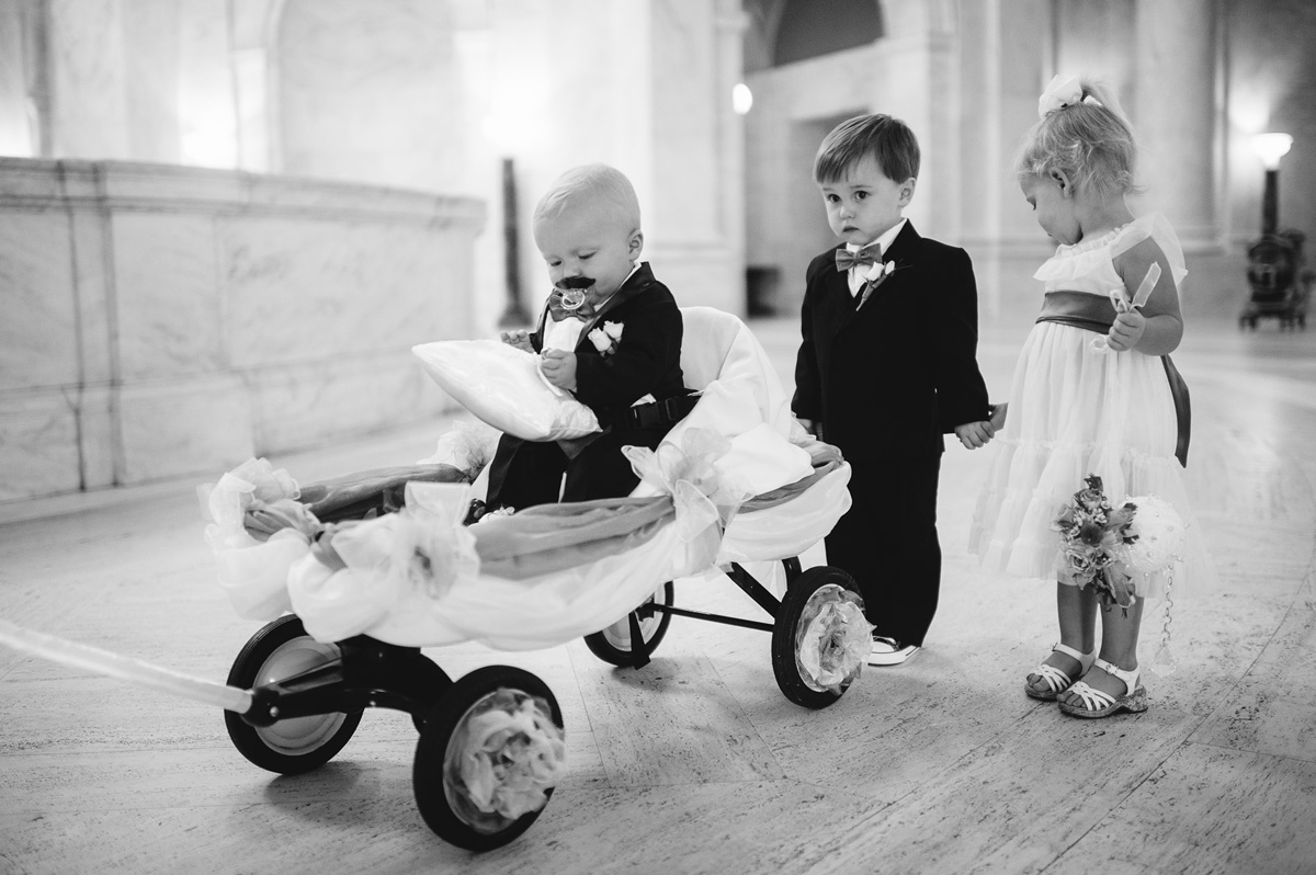 ringbearer flowergirl before ceremony rotunda charleston wv